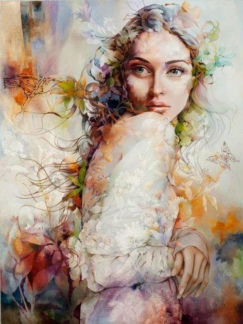 Couleur fleur et femme paintings at Kyma Desingsims S4 image 17313 Sims 4 Updates