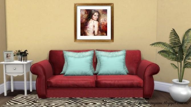 Couleur fleur et femme paintings at Kyma Desingsims S4 image 17412 670x377 Sims 4 Updates