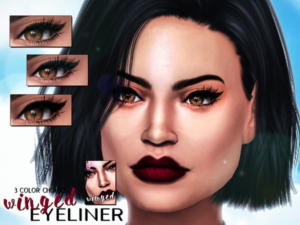 Winged Eyeliner by SenpaiSimmer at TSR image 1750 Sims 4 Updates