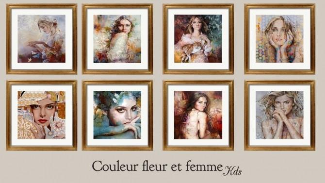 Couleur fleur et femme paintings at Kyma Desingsims S4 image 17511 670x377 Sims 4 Updates