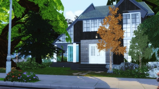Sims 4 Modern cabin UneToucheDeGeek collaboration at Sims4 Luxury