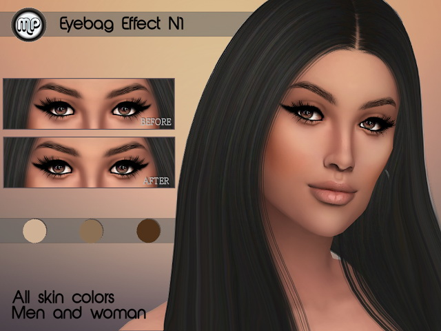 Sims 4 MP Eye Bag Effect N1 at BTB Sims – MartyP