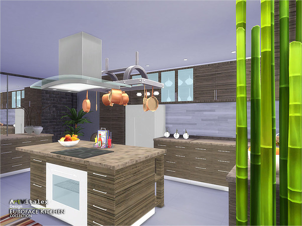 Euroface Kitchen by ArtVitalex at TSR image 1760 Sims 4 Updates