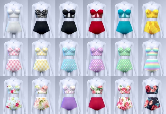 Sania two piece swimsuits at manuea Pinny image 1761 670x461 Sims 4 Updates