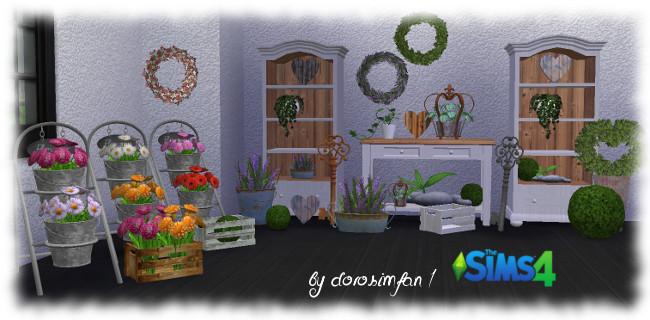 Flower shop set 18 new meshes by dorosimfan1 at Sims Marktplatz image 1799 Sims 4 Updates