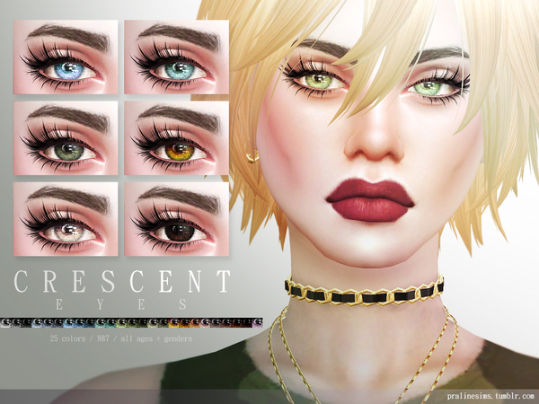 Sims 4 Crescent Eyes N87 by Pralinesims at TSR
