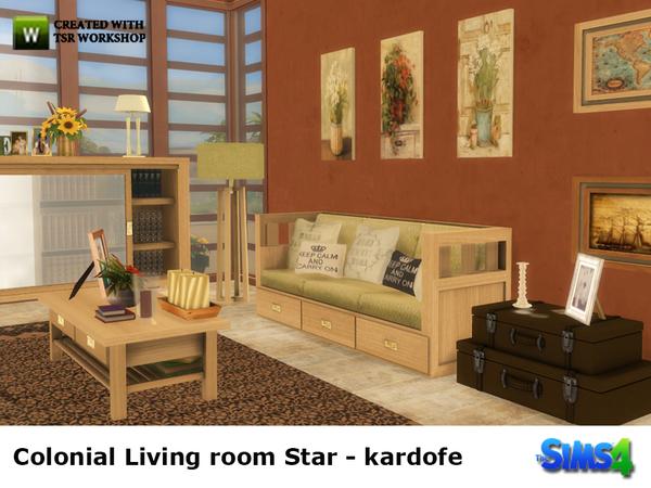 Colonial Livingroom Star By Kardofe At Tsr Sims 4 Updates