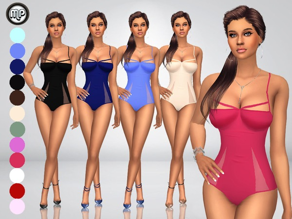 Sims 4 MP Triangle Edge Swimsuit by MartyP at TSR