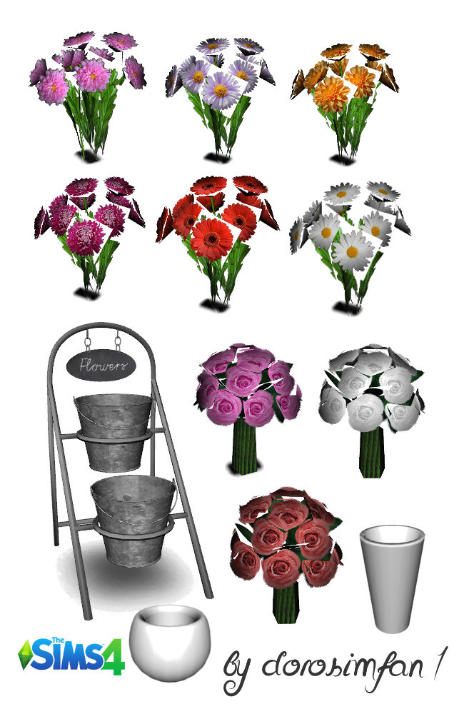 Flower shop set 18 new meshes by dorosimfan1 at Sims Marktplatz image 18212 650x1000 Sims 4 Updates