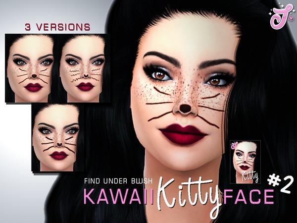Sims 4 Kawaii Kitty Face #2 by SenpaiSimmer at TSR