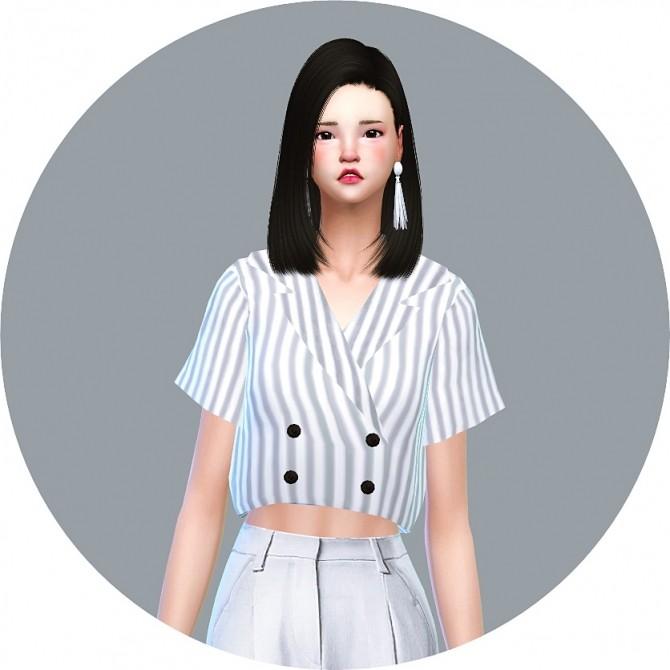 Sims 4 Retro Double Button Blouse at Marigold