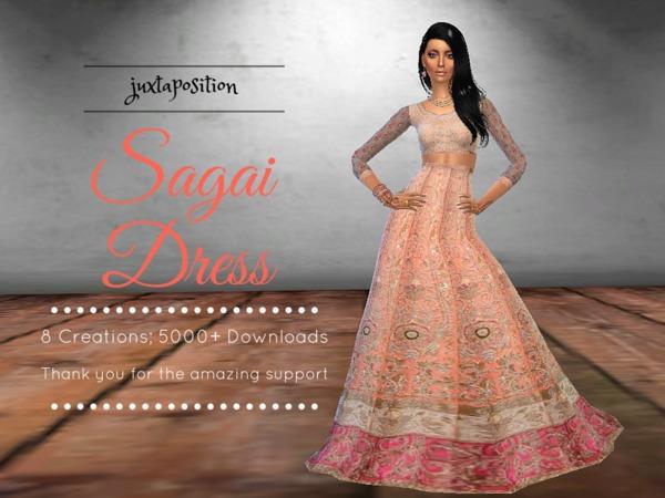 Sagai Dress by Juxtaposition at TSR image 1916 Sims 4 Updates
