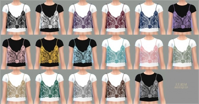 Lace Bustier With Tshirt At Marigold 187 Sims 4 Updates