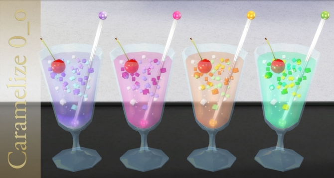 Summer Drink Clutter At Caramelize 187 Sims 4 Updates