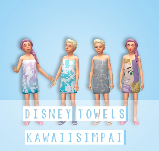 Sims 4 Child Custom Content Clothes Towels For Children At Kawaiisimpaii 187 Sims 4 Updates