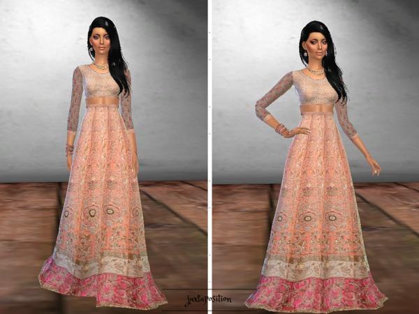 Sims 4 Sagai Dress by Juxtaposition at TSR