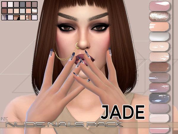 Nails Pack Jade by Pinkzombiecupcakes at TSR image 2018 Sims 4 Updates