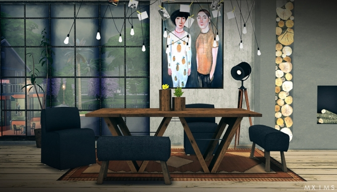 Restoration Hardware Dining 2 0 At Mxims 187 Sims 4 Updates