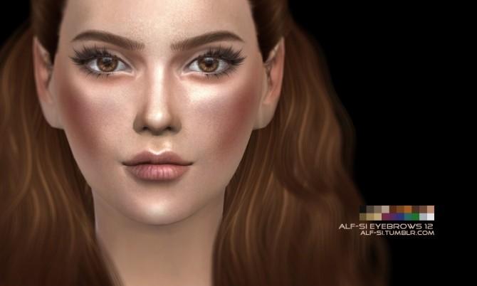 Sims 4 Eyebrows 12 non HQ at Alf si