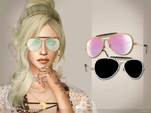 Hyde Aviator sunglasses by toksik at TSR image 210 Sims 4 Updates