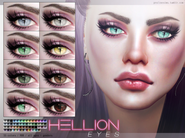 Sims 4 Hellion Eyes N88 by Pralinesims at TSR