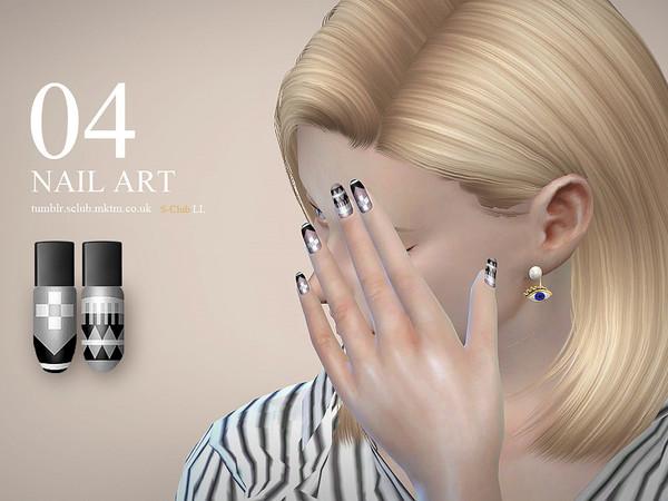 Sims 4 Nail Art N04 by S Club LL at TSR