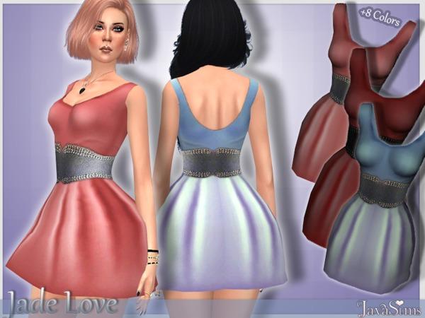 Sims 4 Jade Love Dress by JavaSims at TSR