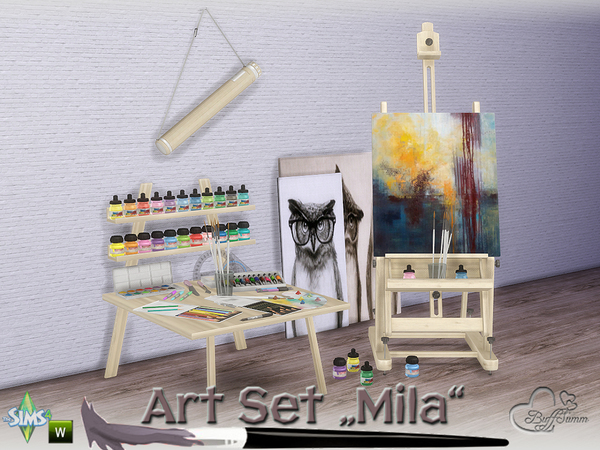 Mila Art Hobby Set by BuffSumm at TSR image 215 Sims 4 Updates