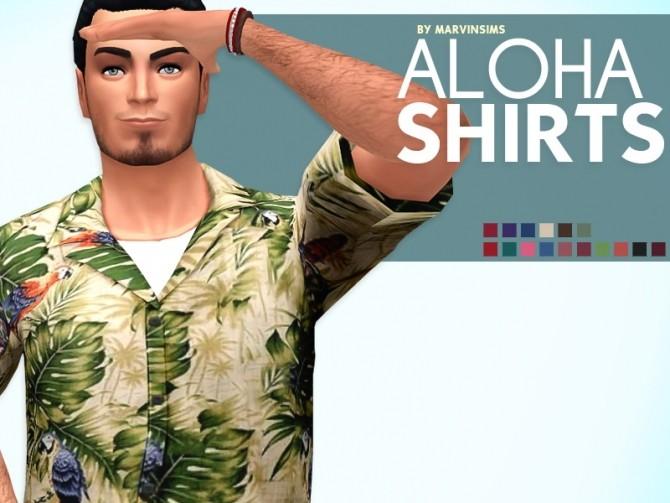 Sims 4 Aloha Shirts at Marvin Sims