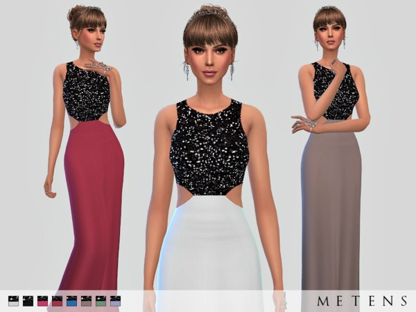 Sims 4 Hastings Dress by Metens at TSR