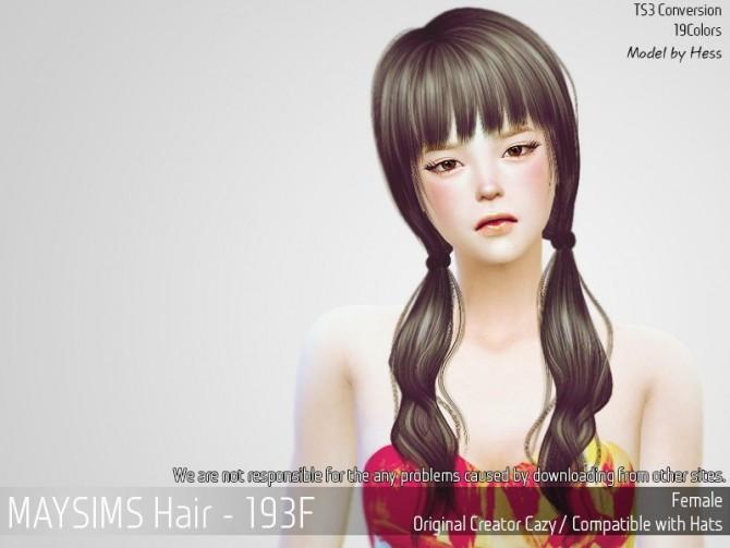 Hair 193F (Cazy) at May Sims image 22210 670x503 Sims 4 Updates