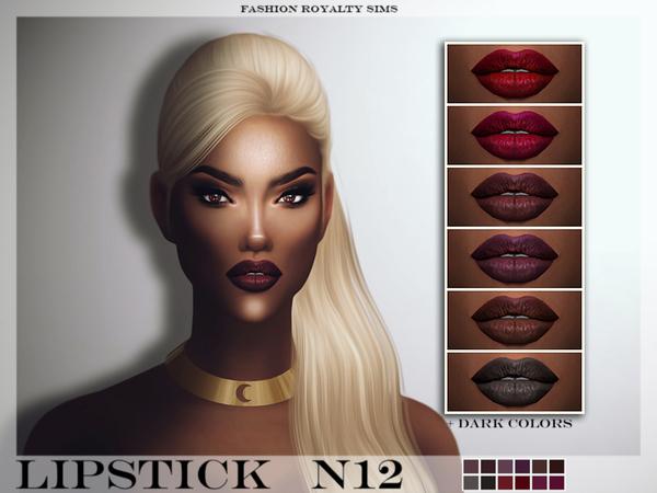 Sims 4 FRS Lipstick N12 by FashionRoyaltySims at TSR