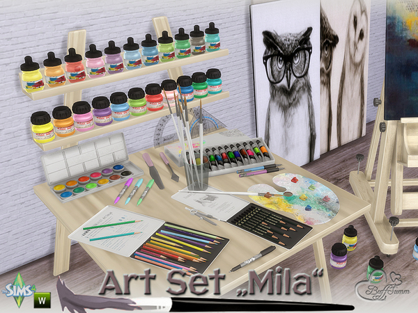 Mila Art Hobby Set by BuffSumm at TSR image 223 Sims 4 Updates