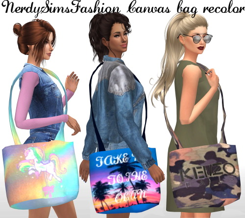 Sims 4 Boxy tees + Canvas bag recolors at Lumy Sims
