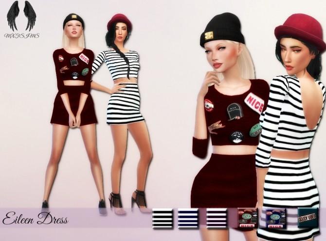 Sims 4 Eileen Dress at MXFSims