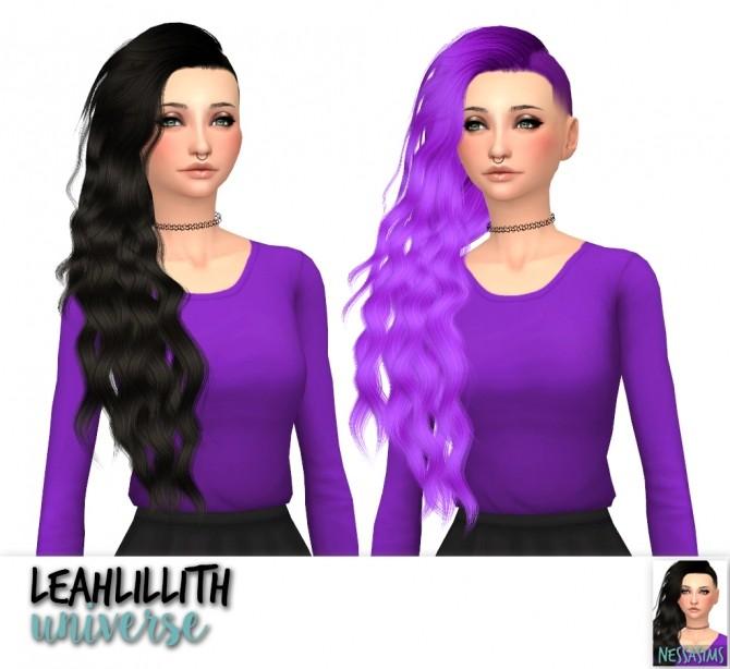 Sims 4 Leahlillith heartburn + souls + strong + universe hair retexture at Nessa Sims