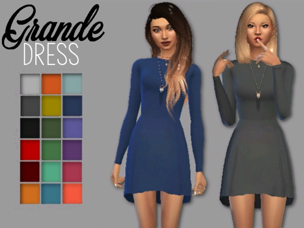 GRANDE Dress by Christopher067 at TSR image 2313 Sims 4 Updates