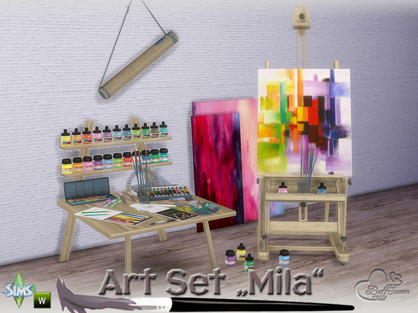 Mila Art Hobby Set by BuffSumm at TSR image 233 Sims 4 Updates