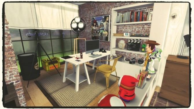 Sims 4 Youtuber Bedroom for a Gamer Boy at Dinha Gamer