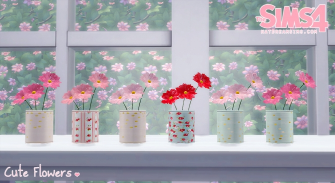 Cute Flowers At Nat Dream Sims 187 Sims 4 Updates