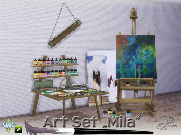Mila Art Hobby Set by BuffSumm at TSR image 243 Sims 4 Updates