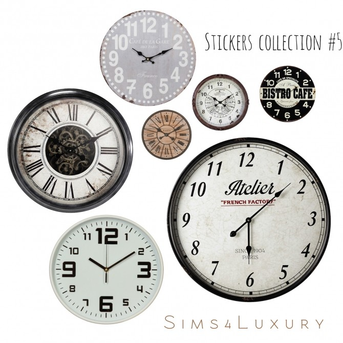 Sims 4 Stickers collection #5 at Sims4 Luxury