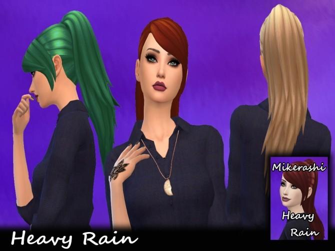 Heavy rain long ponytail hair at Mikerashi image 2503 670x503 Sims 4 Updates