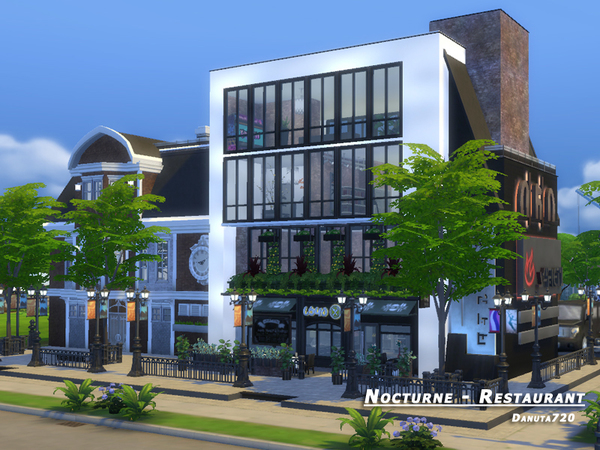 Nocturne restaurant by Danuta720 at TSR image 2520 Sims 4 Updates