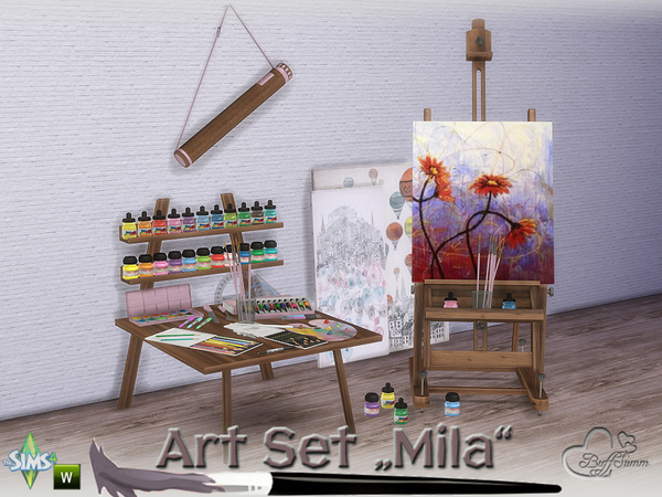 Mila Art Hobby Set by BuffSumm at TSR image 253 Sims 4 Updates