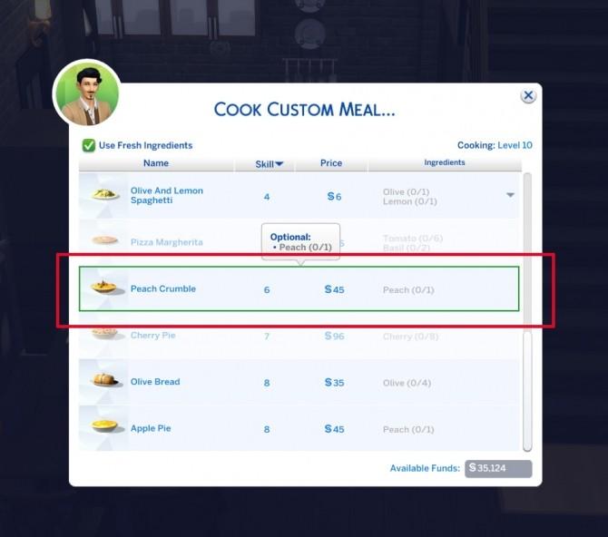 Peach Crumble Custom Food by icemunmun at Mod The Sims image 2530 670x592 Sims 4 Updates