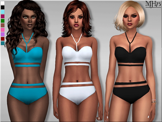 Cut Out swimsuit by Margeh75 at Sims Addictions image 254 Sims 4 Updates