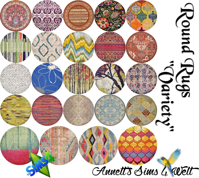 Sims 4 Variety Round Rugs at Annett's Sims 4 Welt