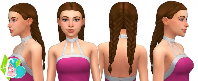 Sims 4 Double Threat Braids at SimLaughLove