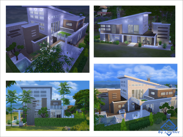 Sims 4 Arcadia Modern 23 house by Devirose at TSR